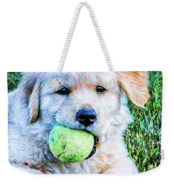 Playful Pup Weekender Tote Bag