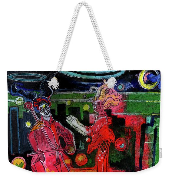 Playing For Time Cityscape Weekender Tote Bag