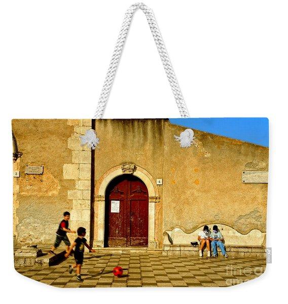 Playing In Taormina Weekender Tote Bag