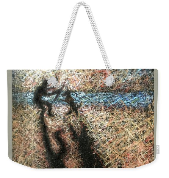 Playing With The Dog Weekender Tote Bag