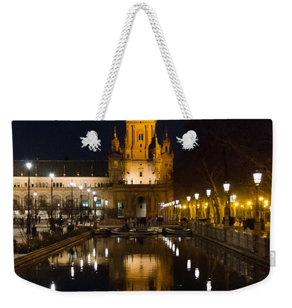Plaza De Espana At Night - Seville 6 Weekender Tote Bag