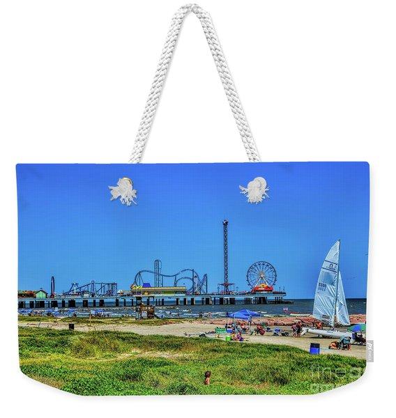 Pleasure Pier Sunny Day Weekender Tote Bag