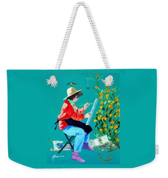 Plein Air Painter  Weekender Tote Bag