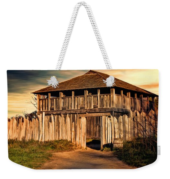 Plimouth Plantation  Meeting House Weekender Tote Bag