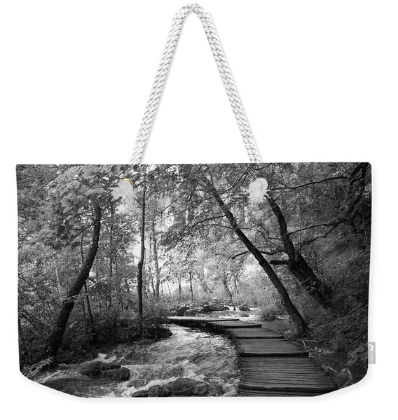 Plitvice In Black And White Weekender Tote Bag