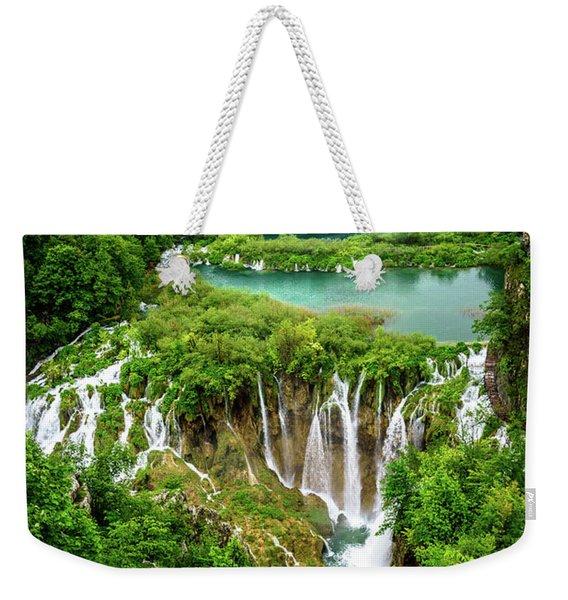 Plitvice Lakes National Park - A Heavenly Crystal Clear Waterfall Vista, Croatia Weekender Tote Bag