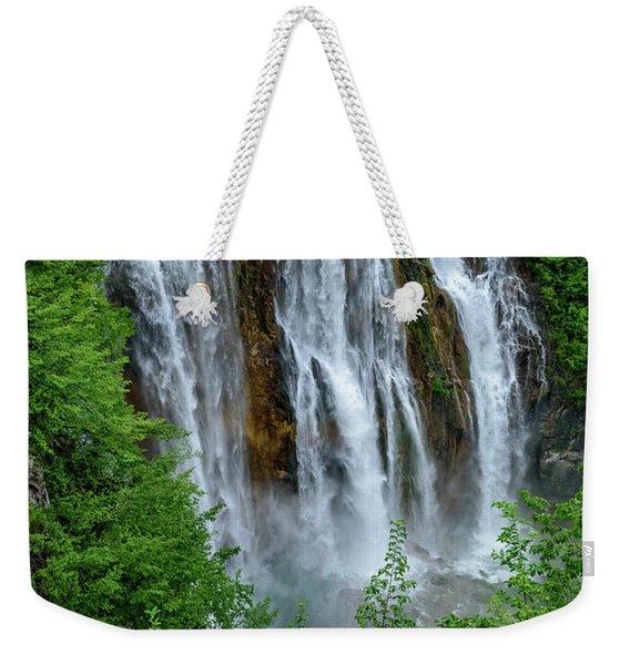 Plitvice Lakes Waterfall - A Balkan Wonder In Croatia Weekender Tote Bag