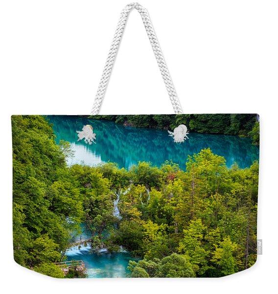 Plitvice Twilight Weekender Tote Bag