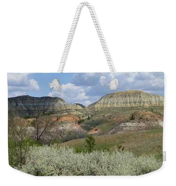 Weekender Tote Bag featuring the photograph Plum Thicket Near The Burning Coal Vein by Cris Fulton