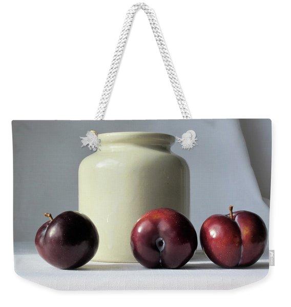 Plums And Crock Weekender Tote Bag