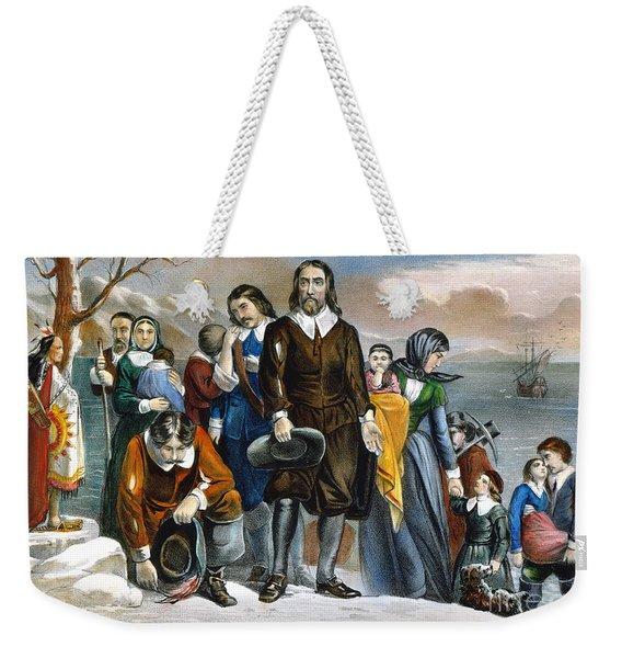 Plymouth Rock, 1620 Weekender Tote Bag