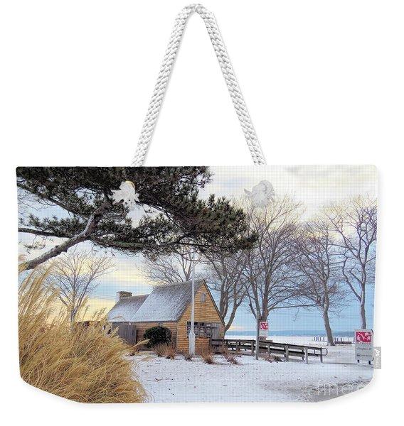 Plymouth Waterfront In Winter  Weekender Tote Bag