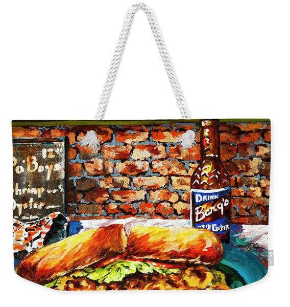 Po'boy Time Weekender Tote Bag