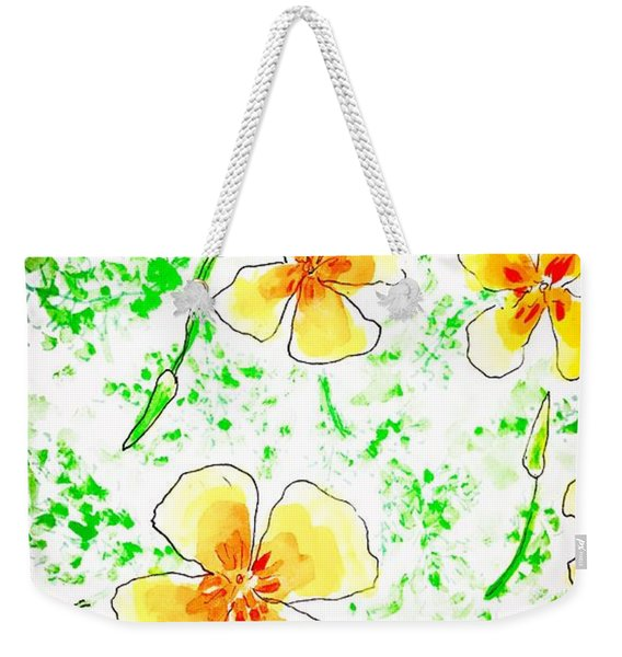 Pocket Full Of Poppies Weekender Tote Bag