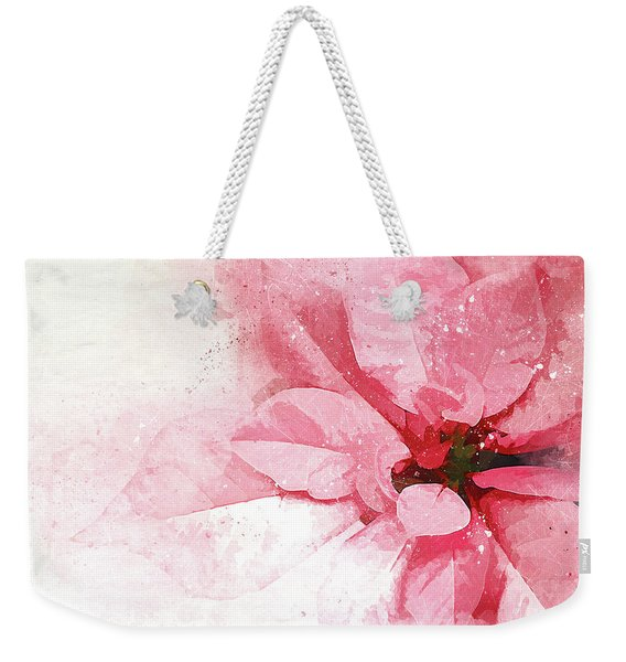 Poinsettia Abstract Weekender Tote Bag