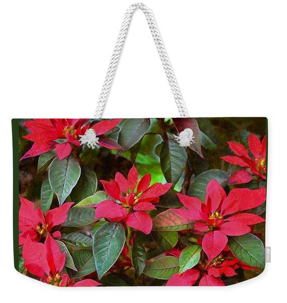 Poinsettia Christmas Weekender Tote Bag