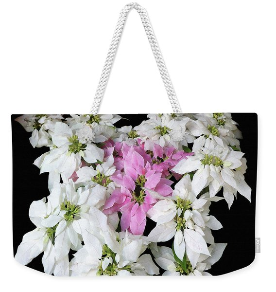 Poinsettia Display Weekender Tote Bag