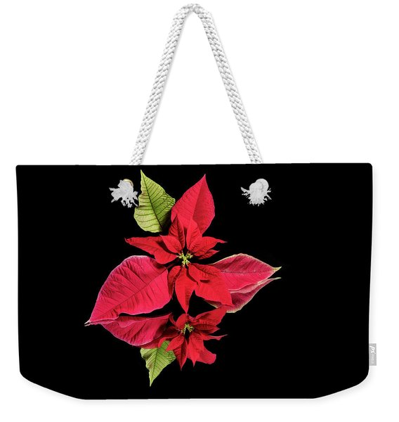 Poinsettia Reflection  Weekender Tote Bag