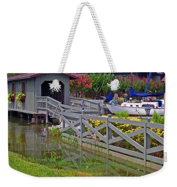 Point Clear Bridge At Grand Hotel Weekender Tote Bag