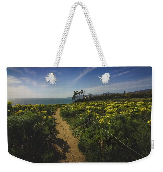 Weekender Tote Bag featuring the photograph Point Dume Spring Wildflowers by Andy Konieczny