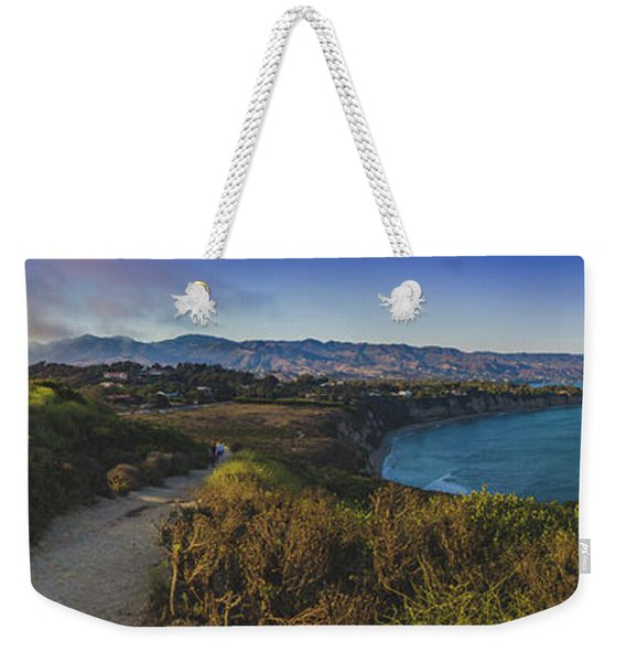 Point Dume Sunset Panorama Weekender Tote Bag