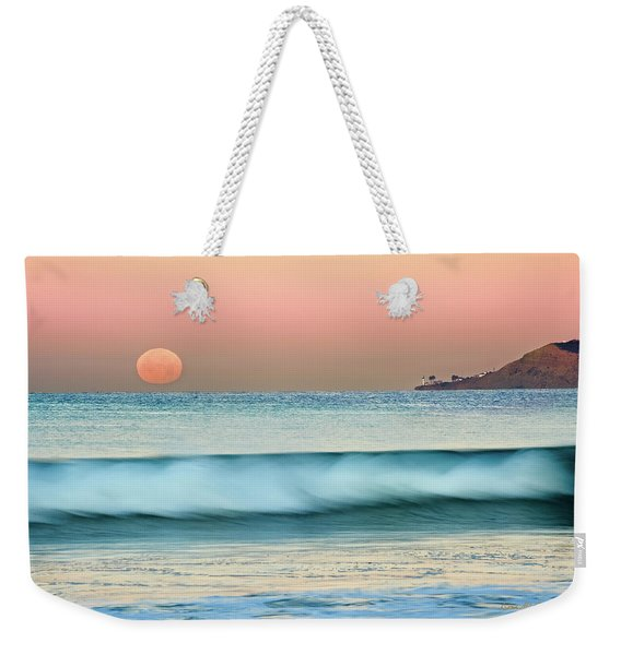 Point Loma Moonset Weekender Tote Bag