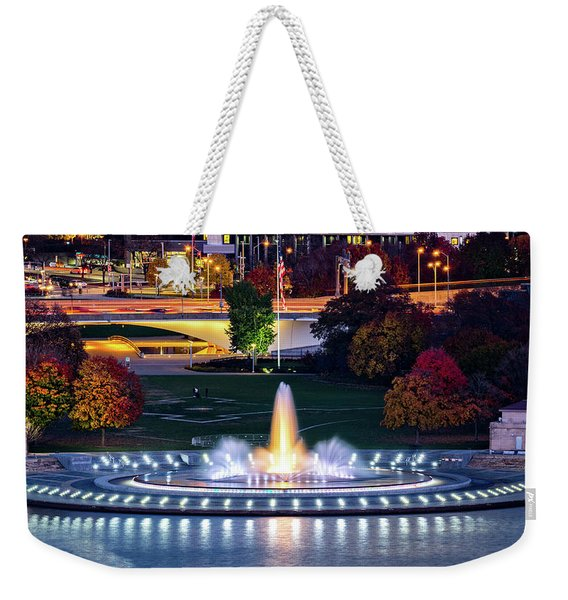 Weekender Tote Bag featuring the photograph Point State Park  by Mihai Andritoiu
