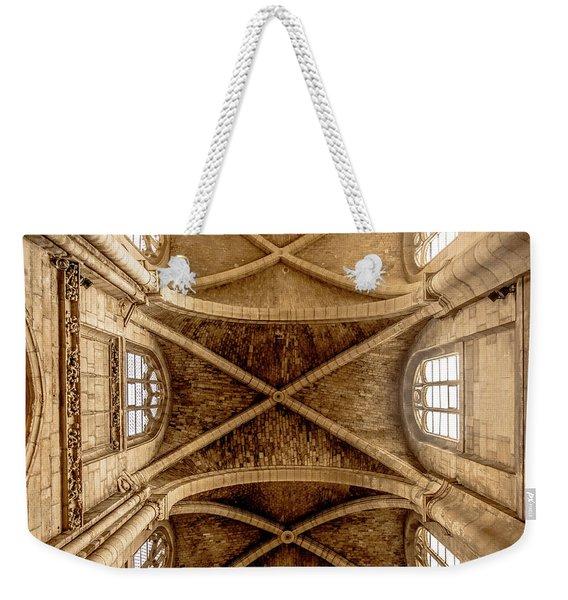 Poissy, France - Ceiling, Notre-dame De Poissy Weekender Tote Bag