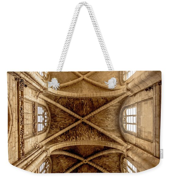 Poissy, France - Ceiling, Notre-dame De Poissy Weekender Tote Bag