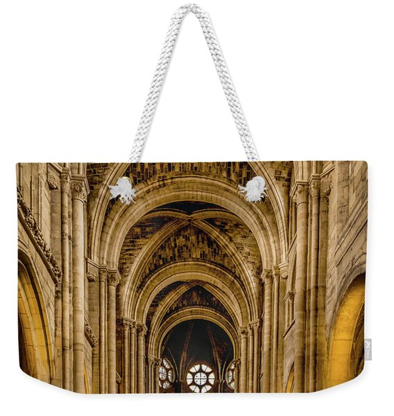 Poissy, France - Nave, Notre-dame De Poissy Weekender Tote Bag
