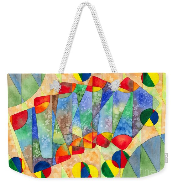 Poker Abstract Watercolor Weekender Tote Bag