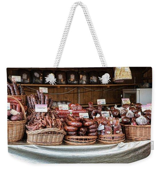 Poland Meat Market Weekender Tote Bag