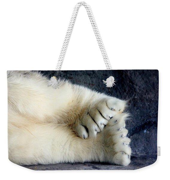 Polar Bear Paws Weekender Tote Bag