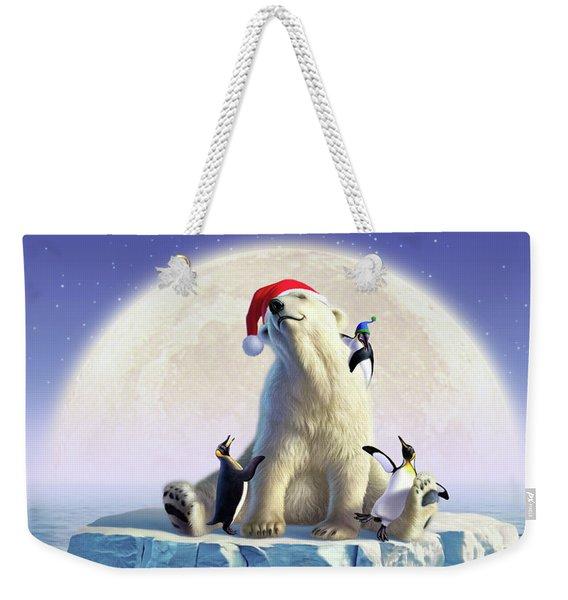 Polar Season Greetings Weekender Tote Bag