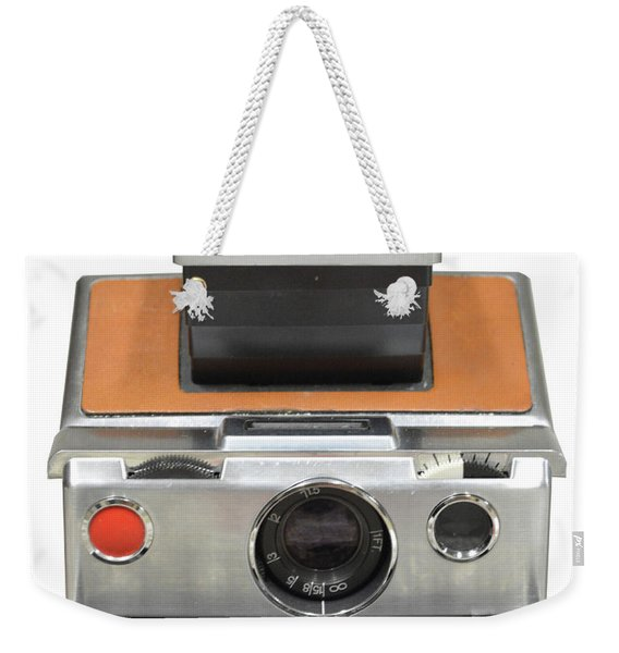 Polaroid Sx70 On White Weekender Tote Bag