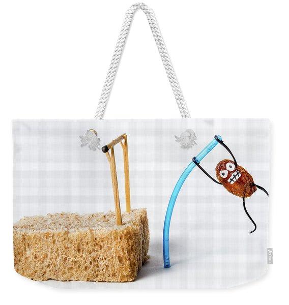 Pole Vaulting Raisin Weekender Tote Bag