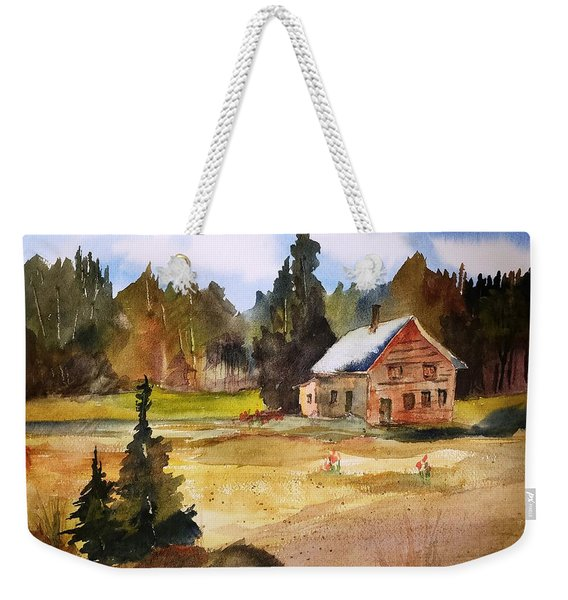 Polebridge Mt Cabin Weekender Tote Bag