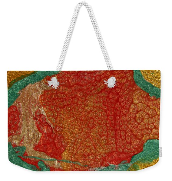 Pomegranate Blossom Abstract Weekender Tote Bag