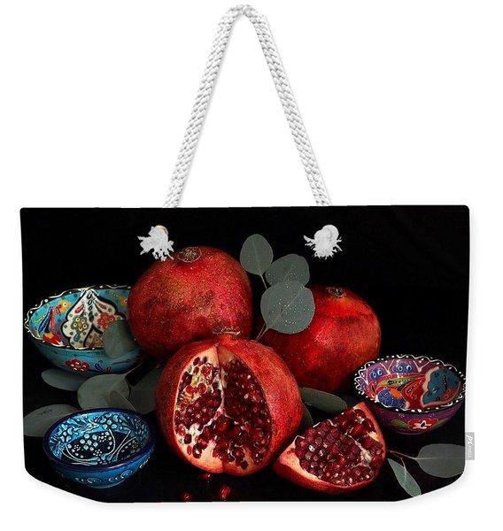 Pomegranate Power Weekender Tote Bag