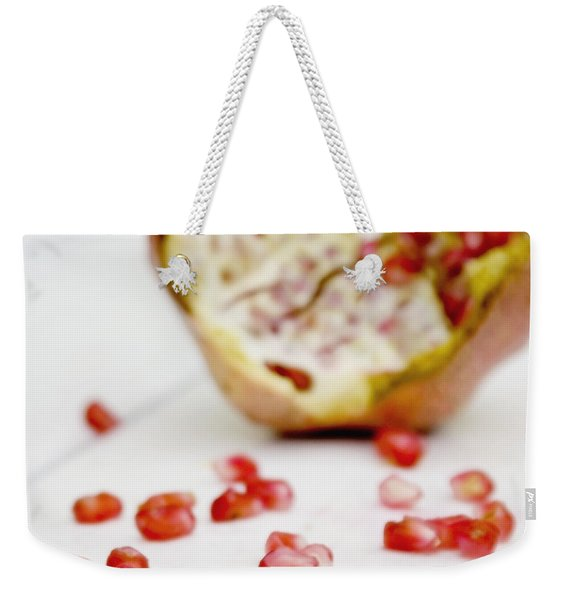 Pomegranate Seeds Weekender Tote Bag