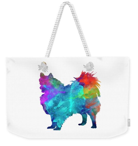 Pomeranian In Watercolor Weekender Tote Bag