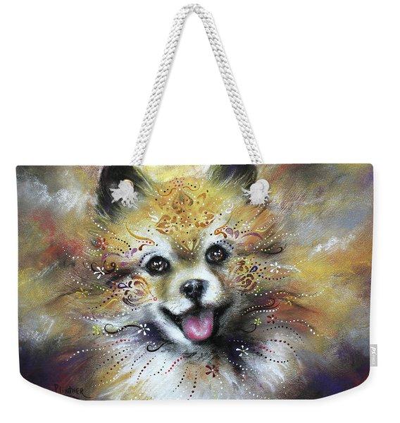 Pomeranian Weekender Tote Bag