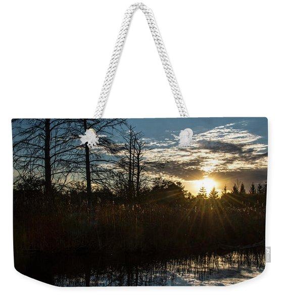 Pond At Sunset-rawlinson Park Weekender Tote Bag