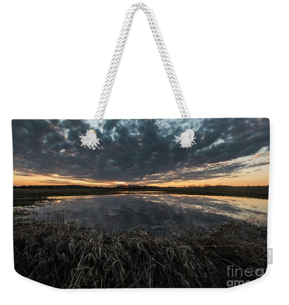 Pond And Sky Reflection1 Weekender Tote Bag