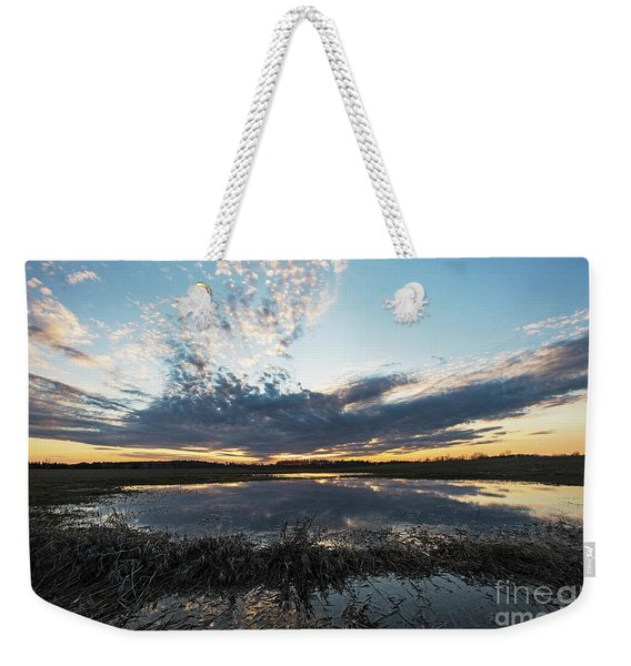 Pond And Sky Reflection2 Weekender Tote Bag