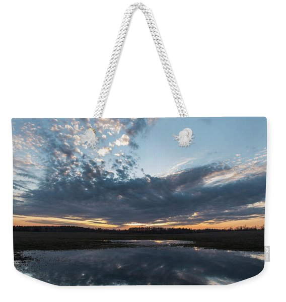 Pond And Sky Reflection3 Weekender Tote Bag