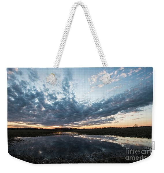 Pond And Sky Reflection4 Weekender Tote Bag