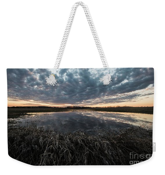 Pond And Sky Reflection5 Weekender Tote Bag