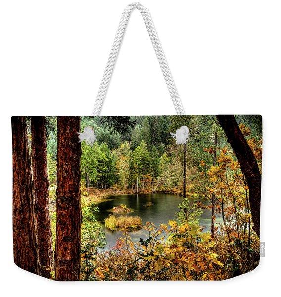 Pond At Golden Or. Weekender Tote Bag