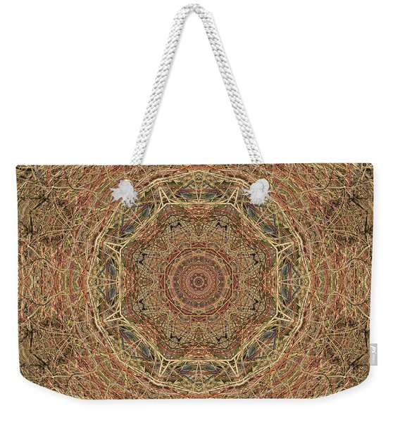Pond Autumn Mandala Weekender Tote Bag
